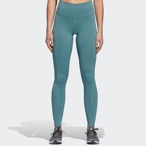 Adidas Women's Believe This Solid Tights Raw Green
